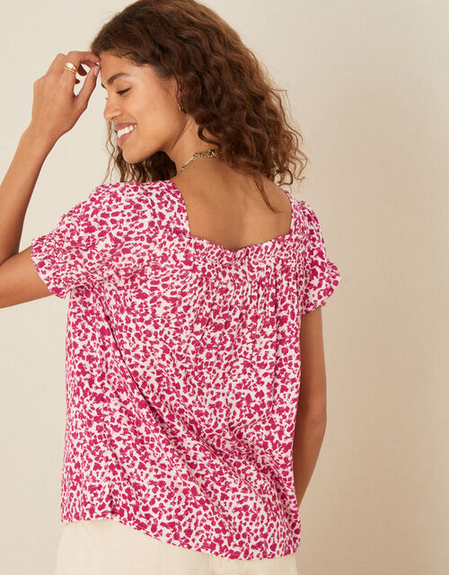 Sunita Printed Top in LENZING™ ECOVERO™, Red (RED), large