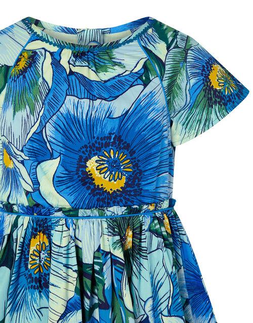 Carmen Poppy Dress, Blue (BLUE), large
