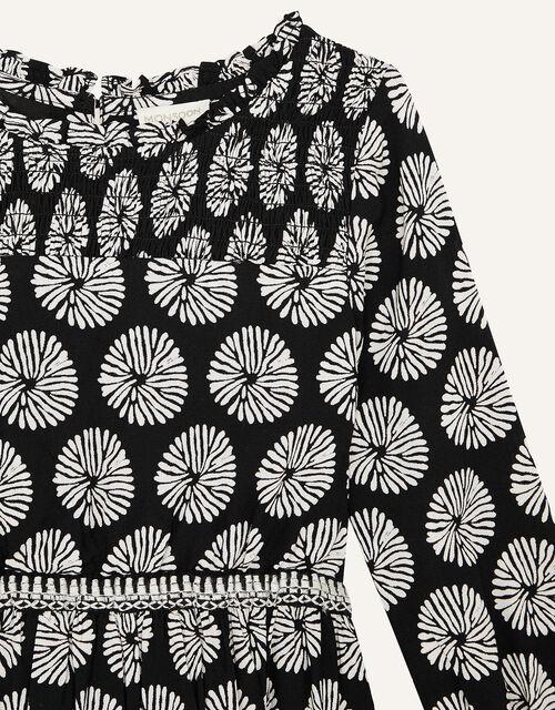 MINI ME Ella Circle Print Dress, Black (BLACK), large