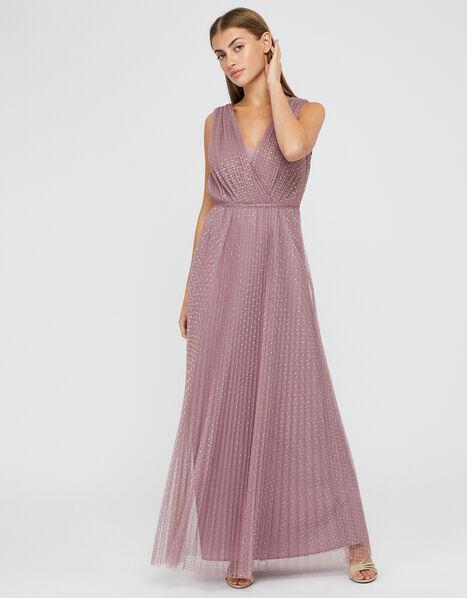Freya Spot Print Maxi Dress Pink, Pink (PINK), large