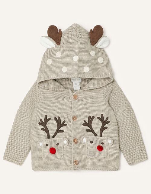 Newborn Reindeer Cardigan, Multi (MULTI), large