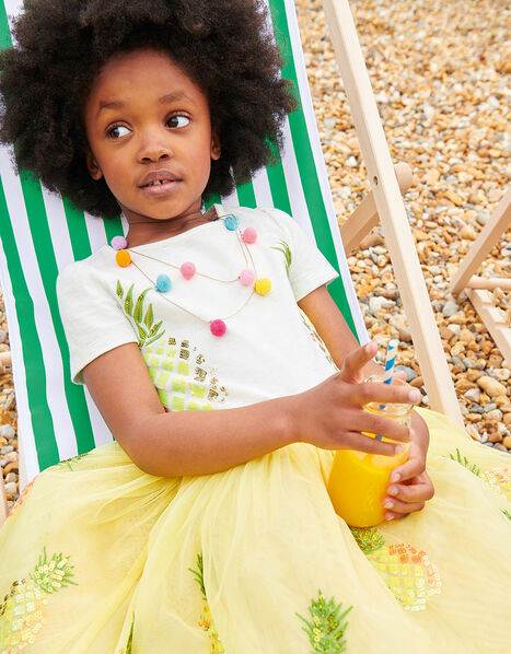 Sequin Pineapple Disco Dress Yellow, Yellow (YELLOW), large