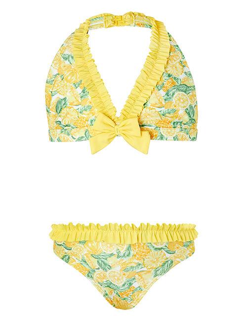 Layla Lemon Bikini Set with Recycled Fabrics, Yellow (YELLOW), large