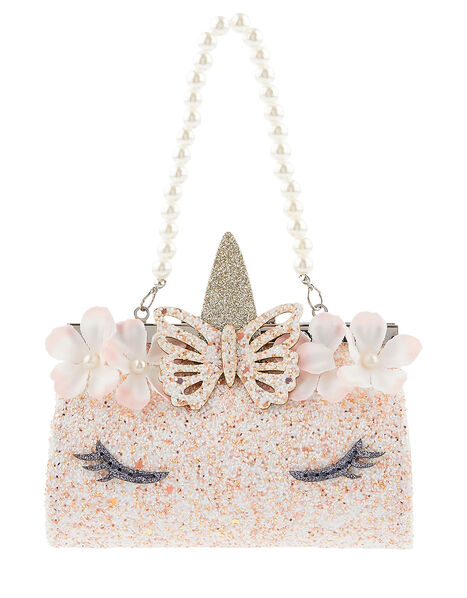 Flutter Unicorn Glitter Mini Bag, , large