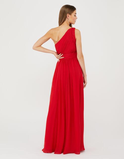 Dani One-Shoulder Maxi Dress, Red (RED), large