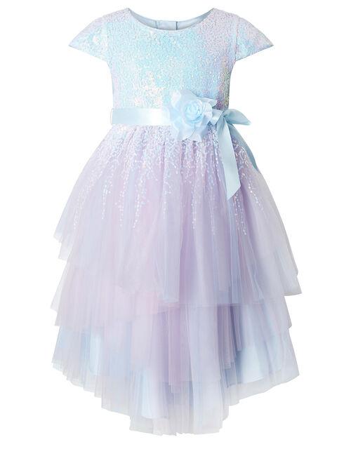 Elsie Sequin Sparkle Party Dress, Blue (BLUE), large