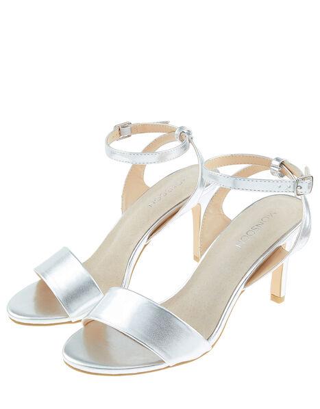 Sue Strappy Occasion Sandals Silver, Silver (SILVER), large