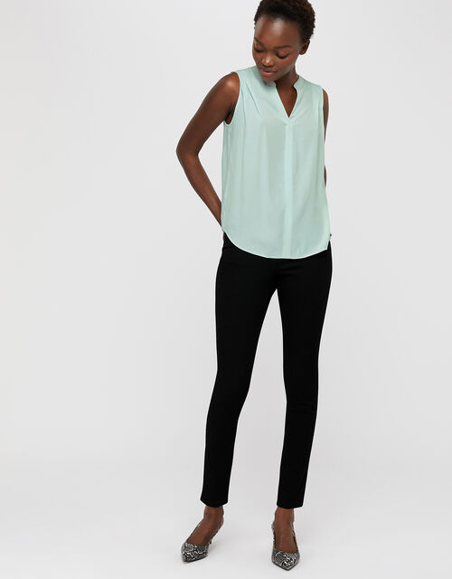 Polly Sleeveless Blouse, Green, large