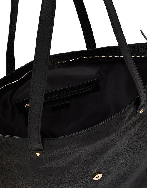 Large Slouch Leather Shoulder Bag, , large