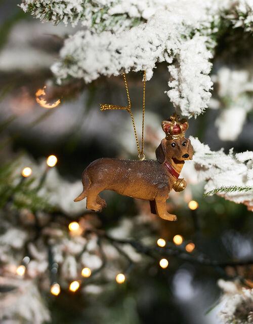 Dachshund Christmas Hanging Decoration, , large
