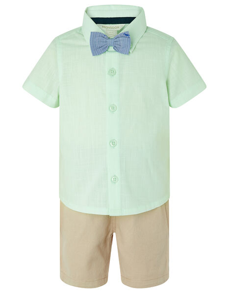 Mateo Shirt, Shorts and Bow Tie Set Green, Green (MINT), large