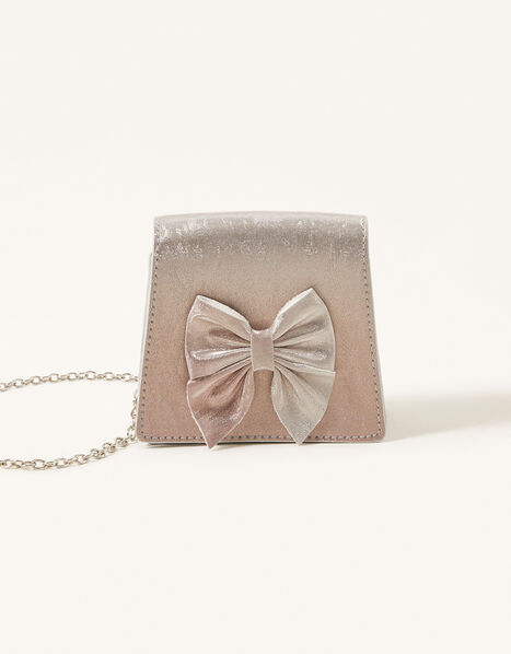 Ombre Bow and Glitter Bag, , large