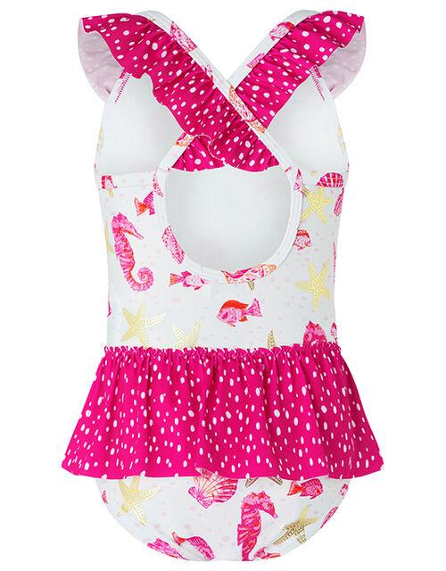 Baby Bondi Shell Swimsuit with Recycled Polyester, Ivory (IVORY), large