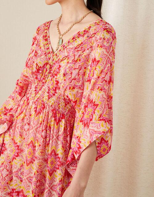 Isla Printed Kaftan, Pink (PINK), large