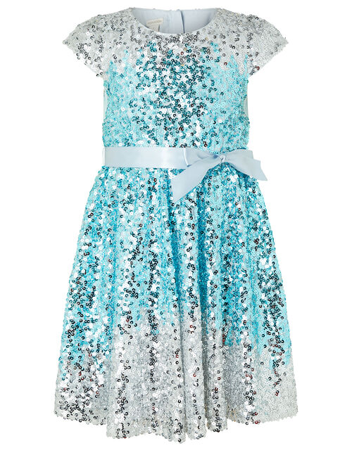 Irianne Blue Ombre Sequin Party Dress, Blue (BLUE), large
