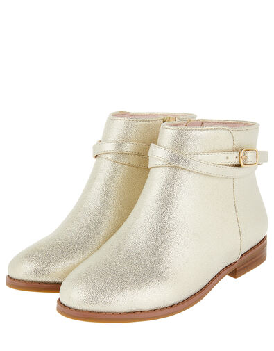 Nadia Shimmer Ankle Boots Gold, Gold (GOLD), large