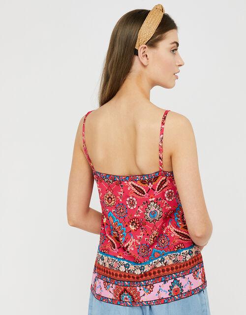 Tamalia Printed Cami Top in LENZING™ ECOVERO™, Pink (PINK), large