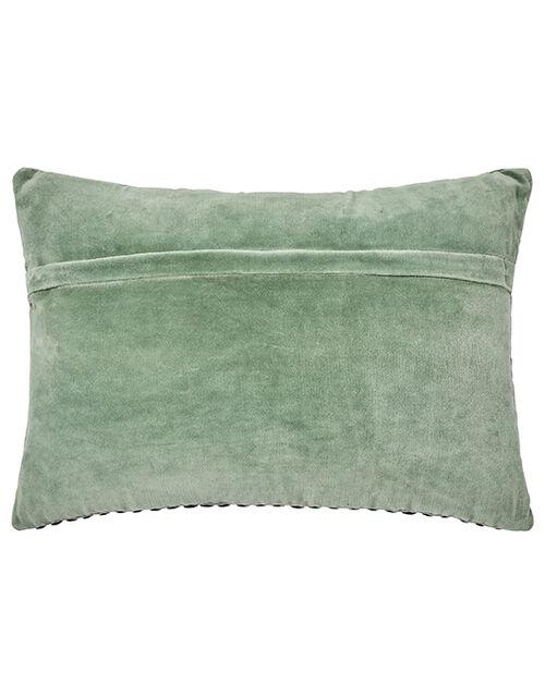 Velvet Silver Disc Cushion, , large
