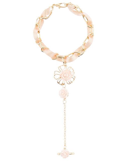 Floral Linked Bracelet and Ring, , large