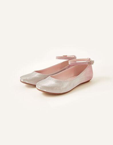 Shimmer Ombre Ballerina Shoes Pink, Pink (PINK), large