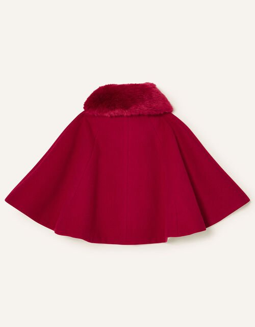 Baby Bow Cape, Red (RED), large