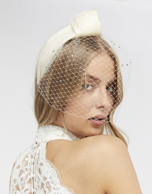Belle Bridal Veil Headband, , large
