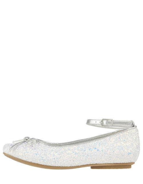 Anya Magical Glitter Ballet Flats, Blue (BLUE), large