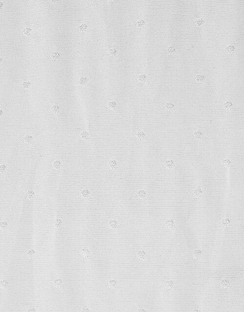 Girl Bridal Spot Tights, White (WHITE), large