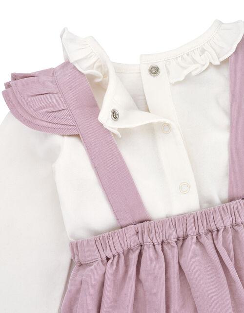Newborn Baby Mouse Cord Romper Set, Purple (LILAC), large