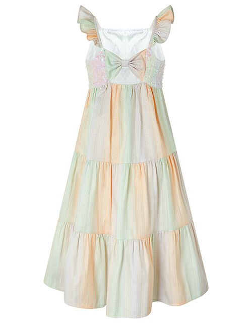 Sunset Sequin Jacquard Tiered Maxi Dress, Multi (MULTI), large