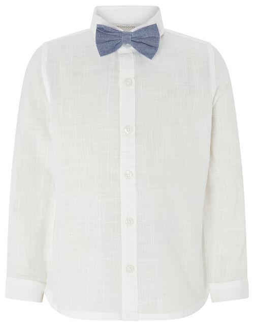 Lenny London Cardigan, Shirt and Bow Tie Set, Blue (BLUE), large