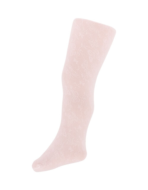 Baby Butterfly Lacey Tights, Pink (PALE PINK), large