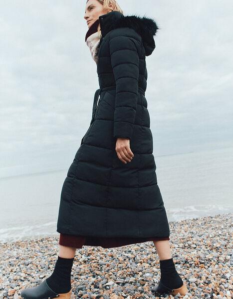 Morgan Hooded Padded Maxi Coat Black, Black (BLACK), large
