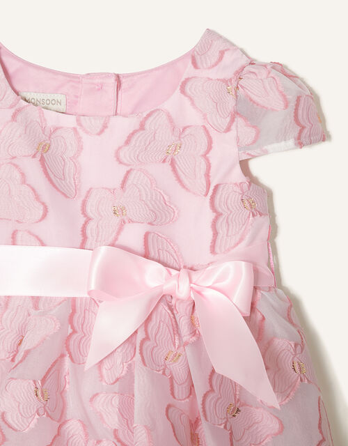 Baby Butterfly Jacquard Dress , Pink (PINK), large