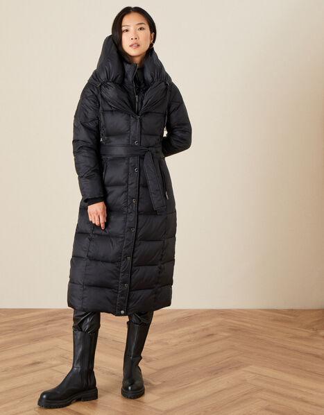 Lauren Padded Maxi Coat Black, Black (BLACK), large