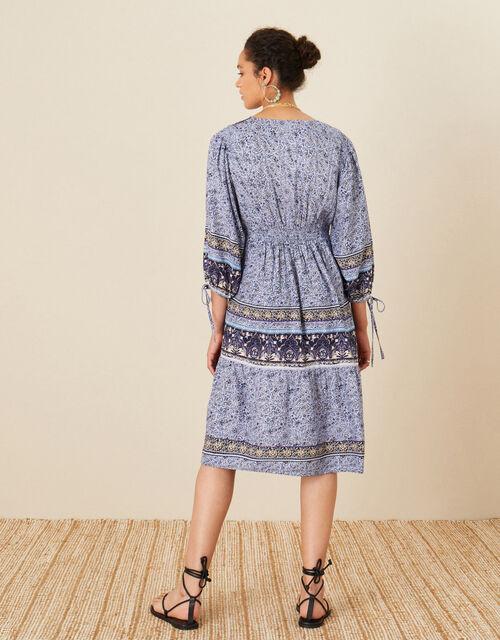 Carmel Printed Dress, Blue (NAVY), large