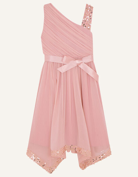 One-Shoulder Sequin Dress Pink, Pink (PINK), large