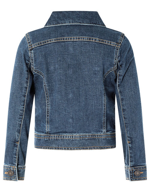 Dina Denim Jacket, Blue (DARK BLUE), large