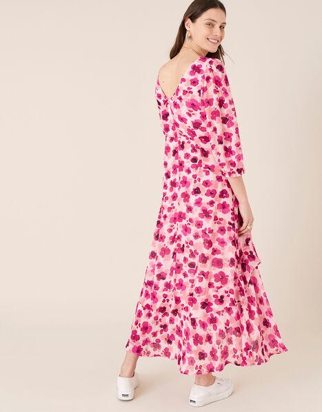 Pompea Poppy Print Midi Dress Pink, Pink (PINK), large