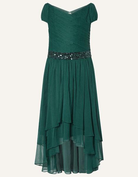 Abigail Sequin Chiffon Prom Dress Green, Green (GREEN), large