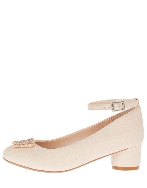 Shimmer Butterfly Heels, Pink (PINK), large