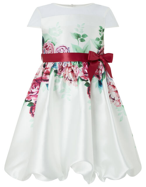 Heidi Floral Puffball Dress, Ivory (IVORY), large