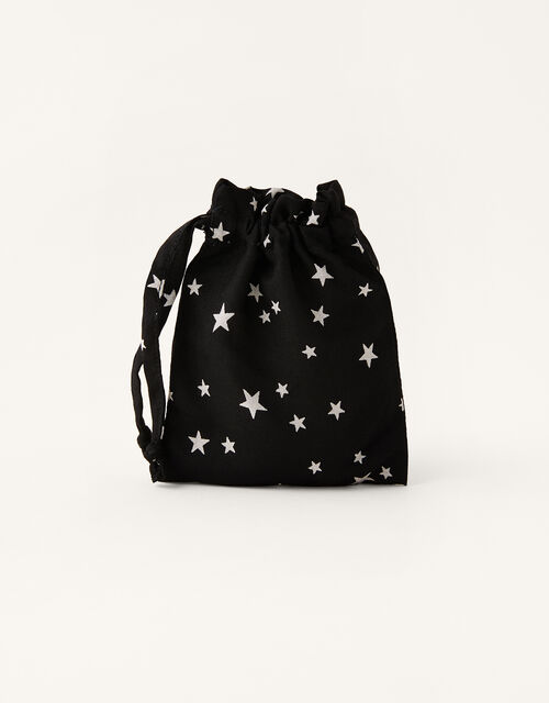Star Print Face Mask in Pure Cotton, , large