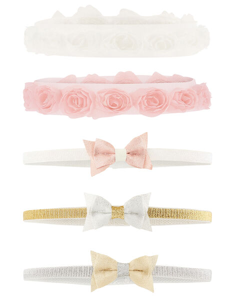 Baby Bow and Rosette Bando Multipack, , large