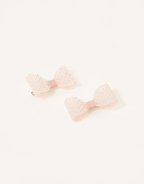 Shimmer Dazzle Bow Clips , , large