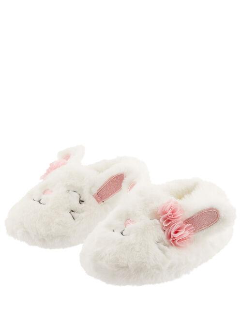 Bunny Fluffy Slippers, Ivory (IVORY), large