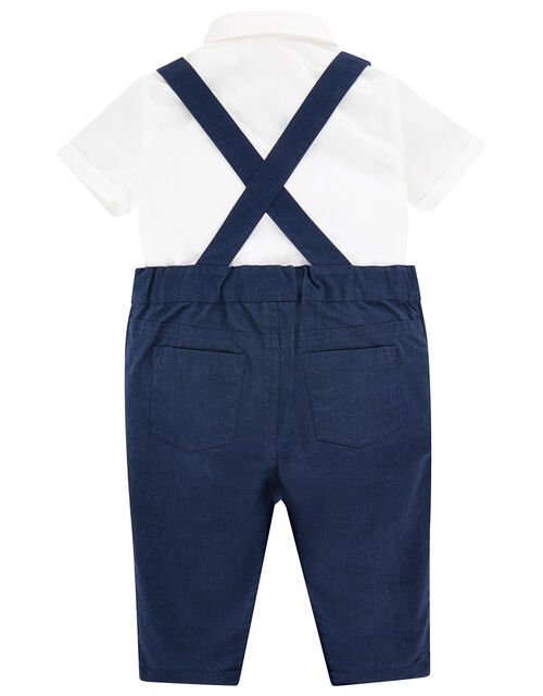 Newborn Connor Mini Chino Smart Set, Blue (NAVY), large