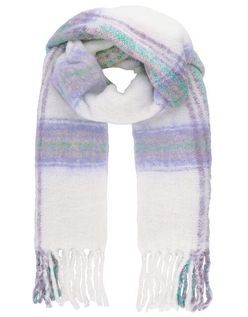 Pastel Check Blanket Scarf, , large