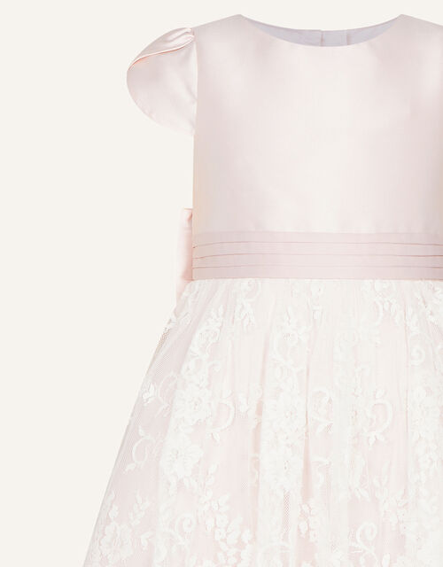 Lace and Duchess Twill Bridesmaid Dress, Pink (PINK), large