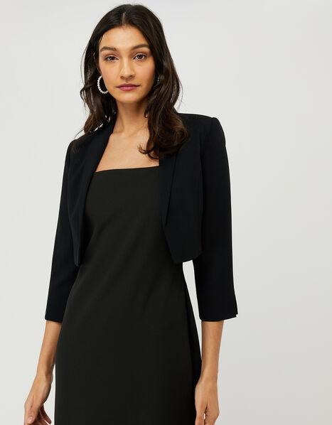 Juni Cropped Jacket Black, Black (BLACK), large